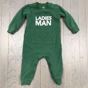 Carter's Ladies Man Fleece Lined Sweatshirt Onesie